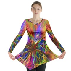 Arrangement Butterfly Aesthetics Long Sleeve Tunic