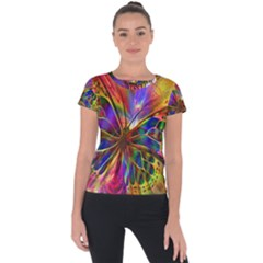 Arrangement Butterfly Aesthetics Short Sleeve Sports Top