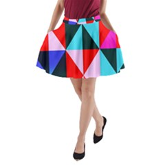 Geometric Pattern A-line Pocket Skirt