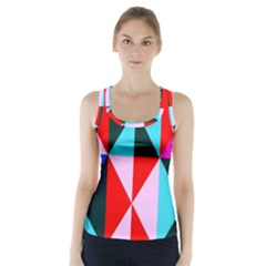 Geometric Pattern Racer Back Sports Top