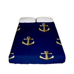 Gold Anchors Background Fitted Sheet (full/ Double Size) by Celenk