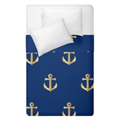 Gold Anchors Background Duvet Cover Double Side (single Size)