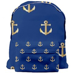 Gold Anchors Background Giant Full Print Backpack by Celenk