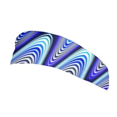 Waves Wavy Blue Pale Cobalt Navy Stretchable Headband