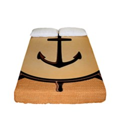 Nautical Anchor Marine Ocean Sea Fitted Sheet (full/ Double Size)