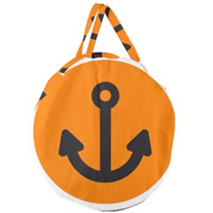 Anchor Keeper Sailing Boat Giant Round Zipper Tote