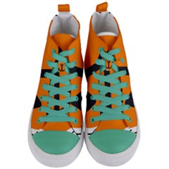 Anchor Keeper Sailing Boat Women s Mid Top Canvas Sneakers
