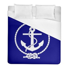 Anchor Flag Blue Background Duvet Cover (full/ Double Size) by Celenk