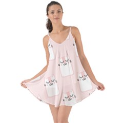 Pattern Cat Pink Cute Sweet Fur Love The Sun Cover Up