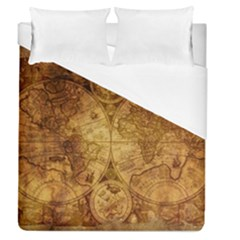 Map Of The World Old Historically Duvet Cover (queen Size) by Celenk