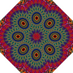 Kaleidoscope Mandala Pattern Folding Umbrellas by Celenk