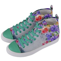 Flower Girl Women s Mid Top Canvas Sneakers by 8fugoso