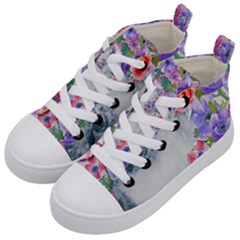 Flower Girl Kid s Mid Top Canvas Sneakers by 8fugoso