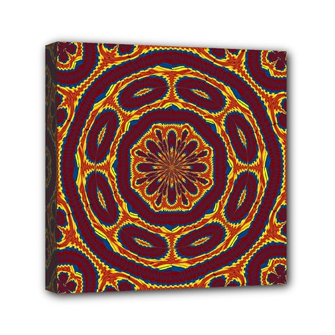 Geometric Tapestry Mini Canvas 6  X 6  by linceazul