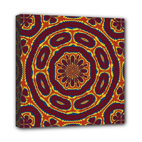 Geometric Tapestry Mini Canvas 8  X 8  by linceazul