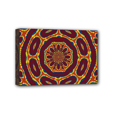 Geometric Tapestry Mini Canvas 6  X 4  by linceazul