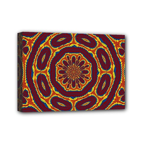 Geometric Tapestry Mini Canvas 7  X 5  by linceazul