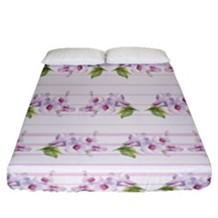 Floral Pattern Fitted Sheet (queen Size) by SuperPatterns