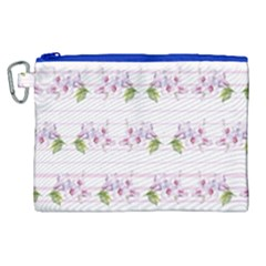 Floral Pattern Canvas Cosmetic Bag (xl) by SuperPatterns