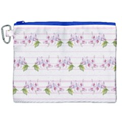Floral Pattern Canvas Cosmetic Bag (xxl) by SuperPatterns