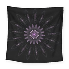 Fractal Mandala Delicate Pattern Square Tapestry (large) by Celenk