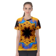 Digital Art Fractal Artwork Flower Women s Sport Mesh Tee by Celenk