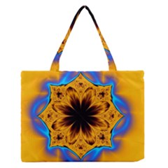 Digital Art Fractal Artwork Flower Zipper Medium Tote Bag by Celenk