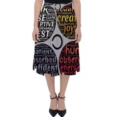 Person Character Characteristics Folding Skater Skirt