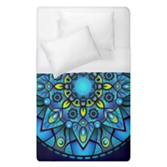 Mandala Blue Abstract Circle Duvet Cover (single Size) by Celenk