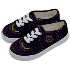 Fractal Purple Mandala Violet Kids  Classic Low Top Sneakers by Celenk