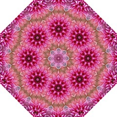 Flower Mandala Art Pink Abstract Folding Umbrellas