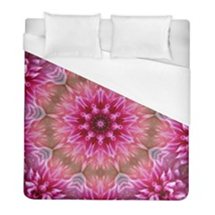 Flower Mandala Art Pink Abstract Duvet Cover (full/ Double Size)