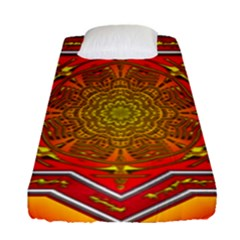 Mandala Zen Meditation Spiritual Fitted Sheet (single Size) by Celenk