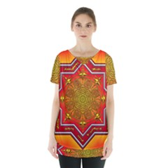 Mandala Zen Meditation Spiritual Skirt Hem Sports Top by Celenk