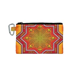 Mandala Zen Meditation Spiritual Canvas Cosmetic Bag (small) by Celenk