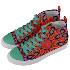 Abstract Art Abstract Background Women s Mid Top Canvas Sneakers by Celenk