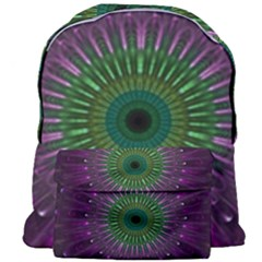 Purple Mandala Fractal Glass Giant Full Print Backpack