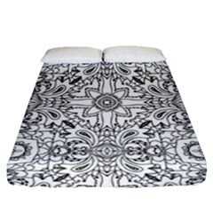 Mandala Pattern Line Art Fitted Sheet (queen Size)