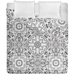 Mandala Pattern Line Art Duvet Cover Double Side (california King Size) by Celenk