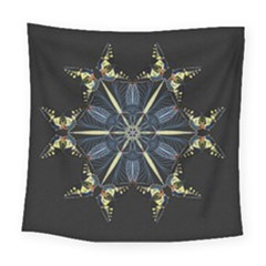 Mandala Butterfly Concentration Square Tapestry (large) by Celenk