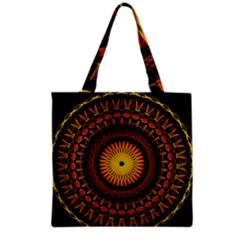Mandala Psychedelic Neon Grocery Tote Bag by Celenk