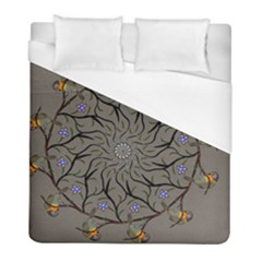 Bird Mandala Spirit Meditation Duvet Cover (full/ Double Size) by Celenk