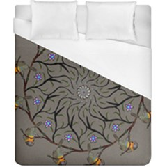 Bird Mandala Spirit Meditation Duvet Cover (california King Size) by Celenk