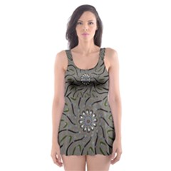 Bird Mandala Spirit Meditation Skater Dress Swimsuit by Celenk