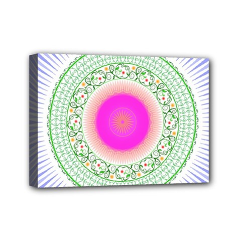 Flower Abstract Floral Mini Canvas 7  X 5