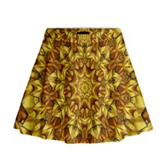 Abstract Antique Art Background Mini Flare Skirt by Celenk