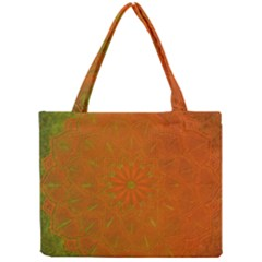 Background Paper Vintage Orange Mini Tote Bag by Celenk