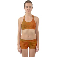 Background Paper Vintage Orange Back Web Sports Bra Set by Celenk