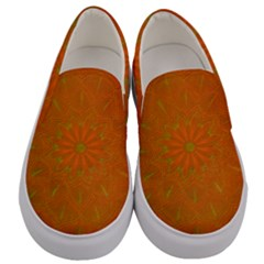 Background Paper Vintage Orange Men s Canvas Slip Ons