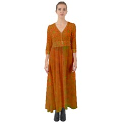 Background Paper Vintage Orange Button Up Boho Maxi Dress by Celenk